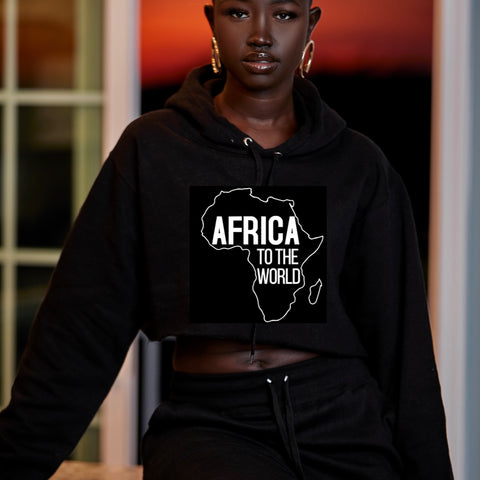 Africa to the world crop top