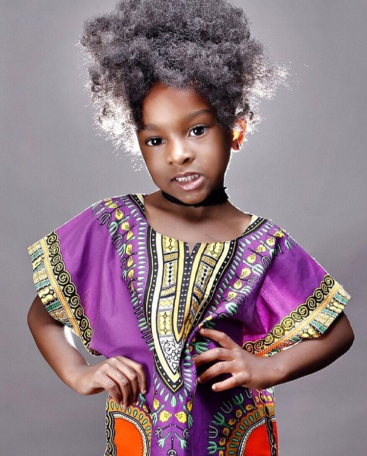 Purple kids dashiki