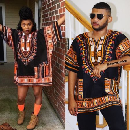 Black and orange Dashiki""