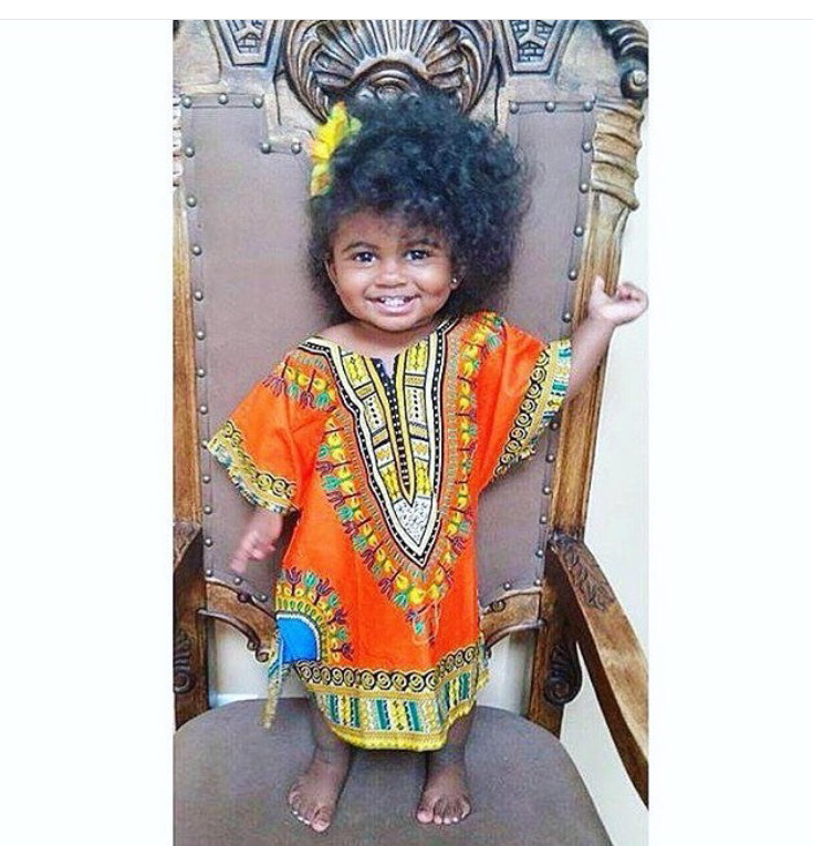 Orange kids dashiki