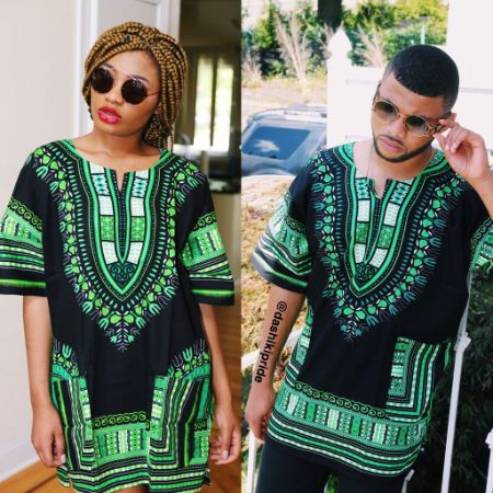 Black and green Dashiki""