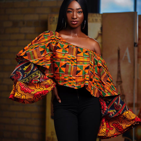 Kente rew multi top