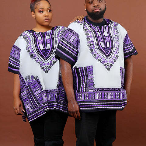 White and purple plus size