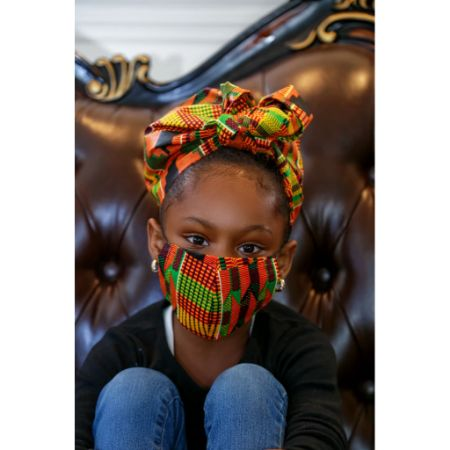 Kente Rew kids face mask