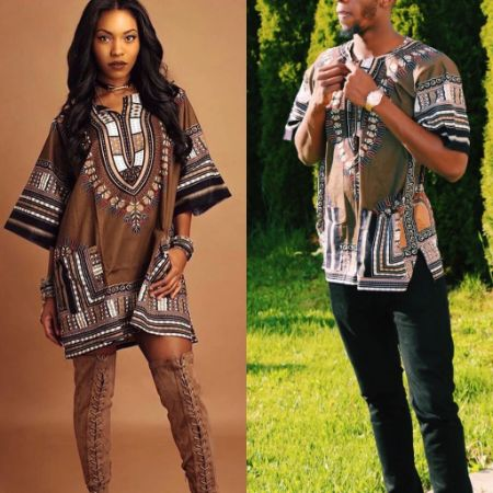 Brown Scale dashiki