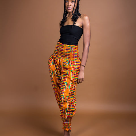 Kente kube pants and scarf