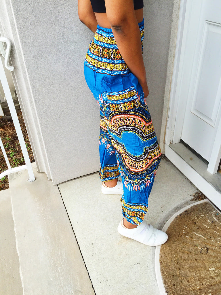 Blue Zig Pants