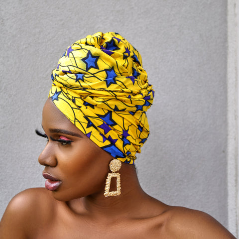 Yellow star headwrap
