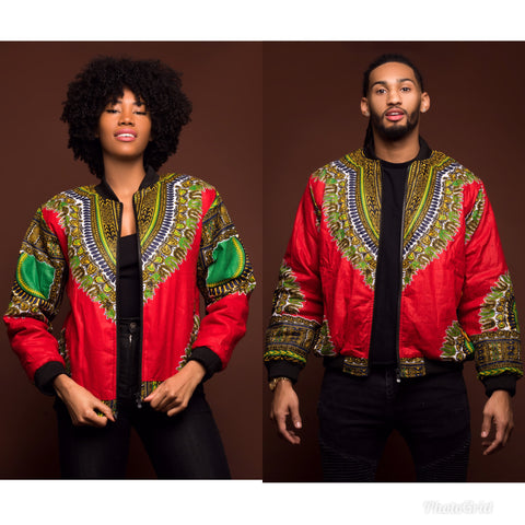 Red bomber jacket (UNISEX)