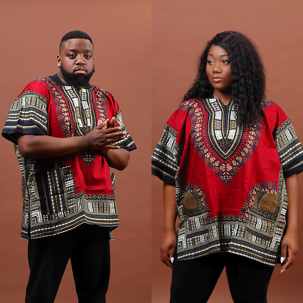Gray Mud Dashiki plus size