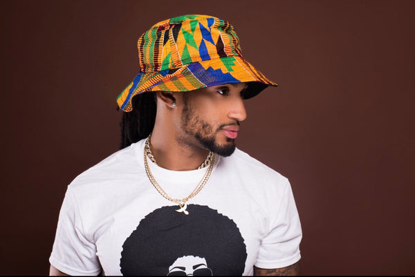 Kente bucket hat