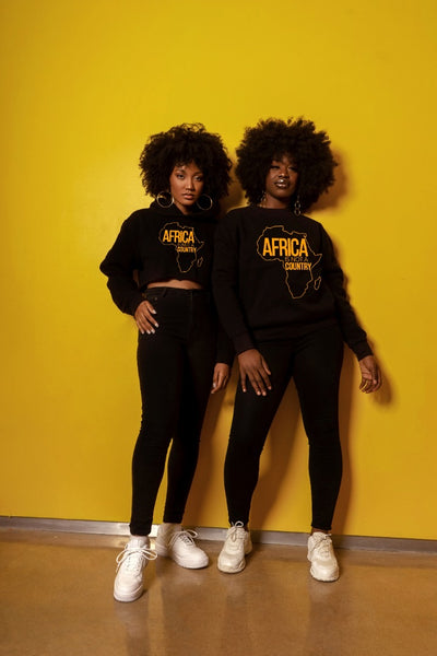 Africa is not a country sweatshirt BLACK