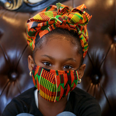 Kente Rew kids headwrap