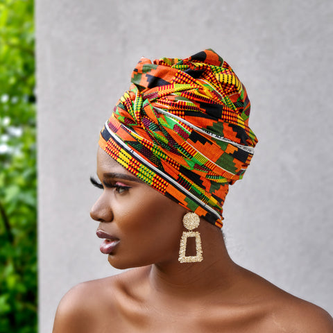 Kente Rew headwrap