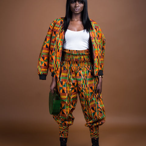 Kente rew pants and scarf