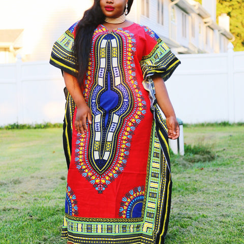 Red Plus Size Kaftan