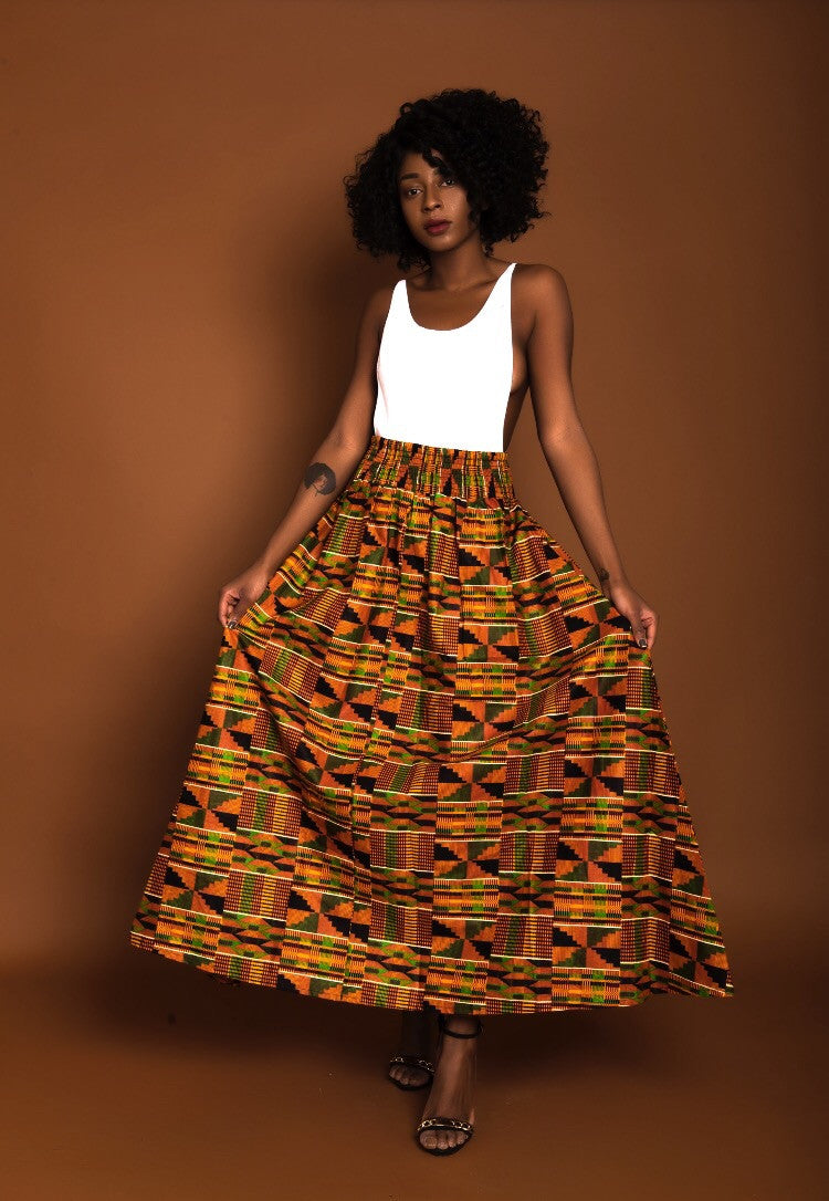 Kente Rew Skirt