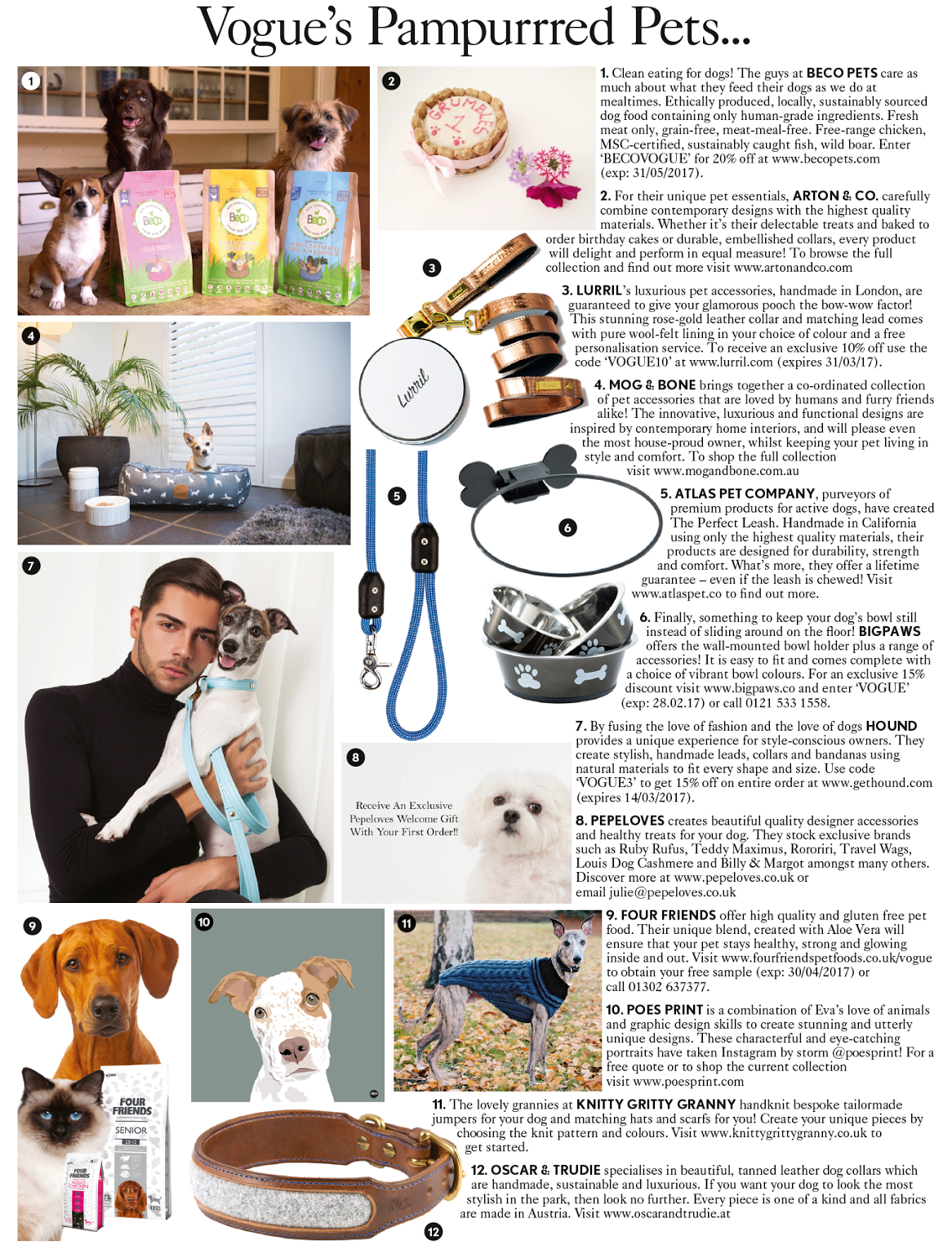 vogue magazine atlas pet company lifetime leash featured in