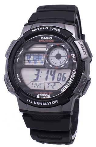 Casio Youth Series Digital World Time AE-1000W-1BVDF AE-1000W-1BV Men's Watch