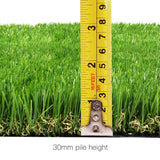Artificial Grass 5 SQM Polyethylene Lawn Flooring 30mm Green