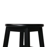 Set of 2 Wooden Bar Stool Black