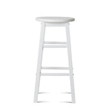 Set of 2 Wooden Bar Stool White