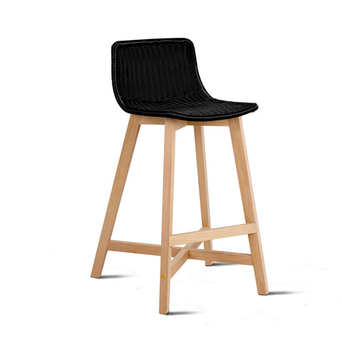 Artiss Set of 2 Reva Bar Stool - Black