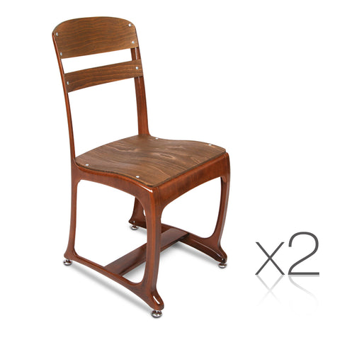 Set of 2 Replica Eton Dining Chairs - Copper