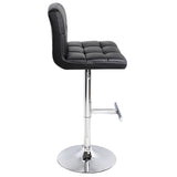 Set of 2 PU Leather Kitchen Bar Stool Black