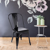 Set of 4 Replica Tolix Dining Metal Chair Gloss Black