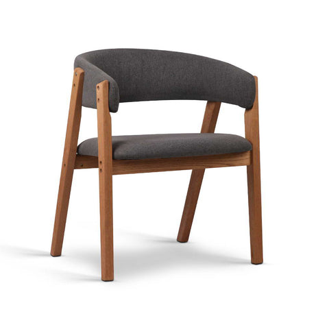 Artiss Fabric and Wood Armchair - Grey