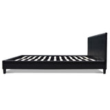 Queen PVC Leather Bed Frame Black