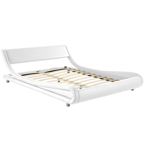 Artiss King Size PU Leather Bed Frame - White