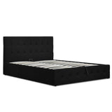Artiss Gas Lift King Bed Frame - Charcoal