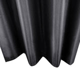 Set of 2 ArtQueen 3 Pass Eyelet Blockout Curtain Black240cm - 260GSM