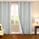 Art Queen 2 Panel 240 x 230cm Eyelet Blockout Curtains - Ecru