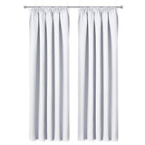 Art Queen 2 Pencil Pleat 180x213cm Blockout Curtains - White