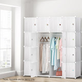 16 Cube Portable Storage Cabinet Wardrobe - White