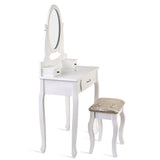 Artiss Dressing Table with Stool - White