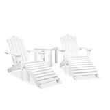 Adirondack Chairs & Side Table Set