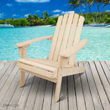 Adirondack Foldable Deck Chair - Natural