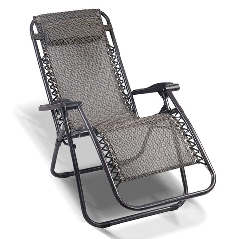 Gardeon Outdoor Portable Recliner - Beige