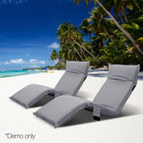 Adjustable Beach Sun Pool Lounger Grey