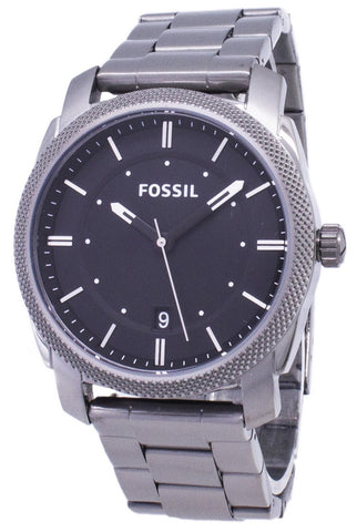 Fossil Machine Black Dial Smoke IP Stainless Steel FS4774 Men's Watch