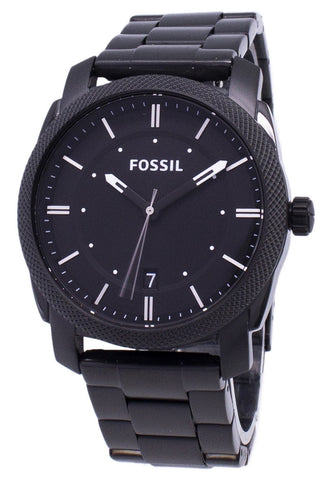 Fossil Machine Black IP Stainless Steel FS4775 Men's Watch