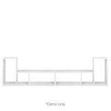 DIY L Shaped Display Shelf - White