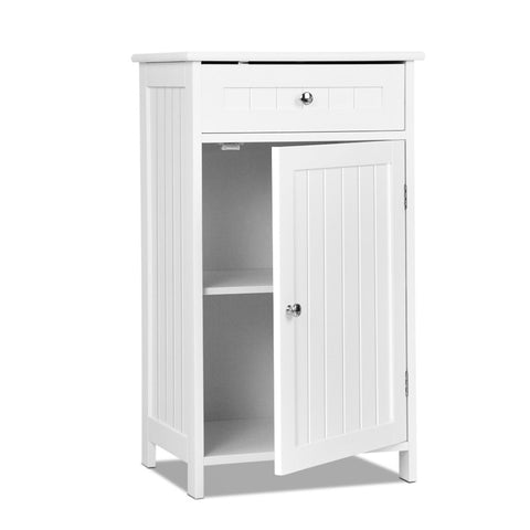 Storage Cabinet with Drawer White