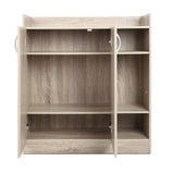 2 Doors Shoe Cabinet Storage Cupboard Wooden