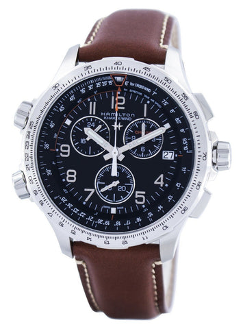 Hamilton Khaki Aviation X-Wind Chronograph Quartz GMT Swiss Made H77912535 Men's Watch