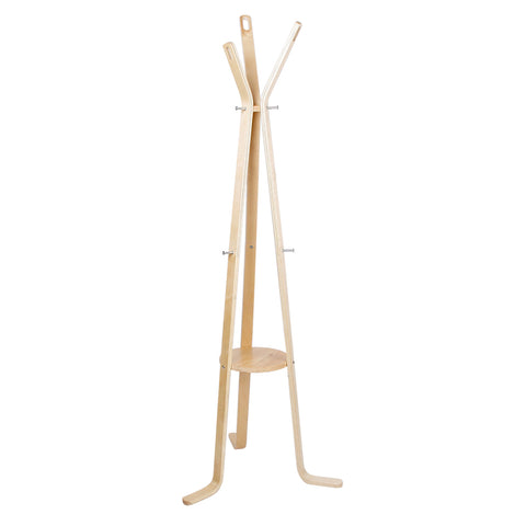 Wooden Coat Rack Clothes Stand Hanger Light Wood